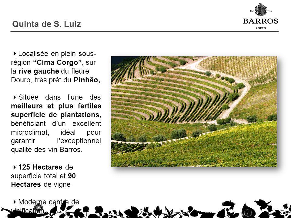Quinta de S. Luiz Localisée en plein sous-région Cima Corgo , sur la rive gauche du fleure Douro, très prêt du Pinhão,