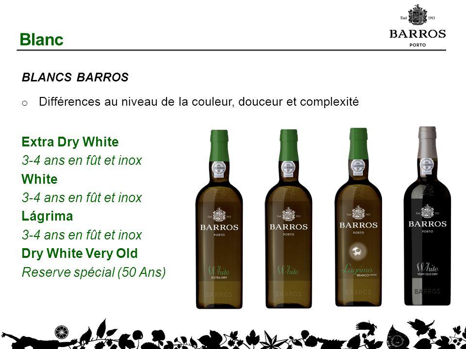 Blanc Extra Dry White 3-4 ans en fût et inox White Lágrima