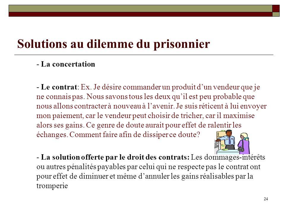 Solutions au dilemme du prisonnier