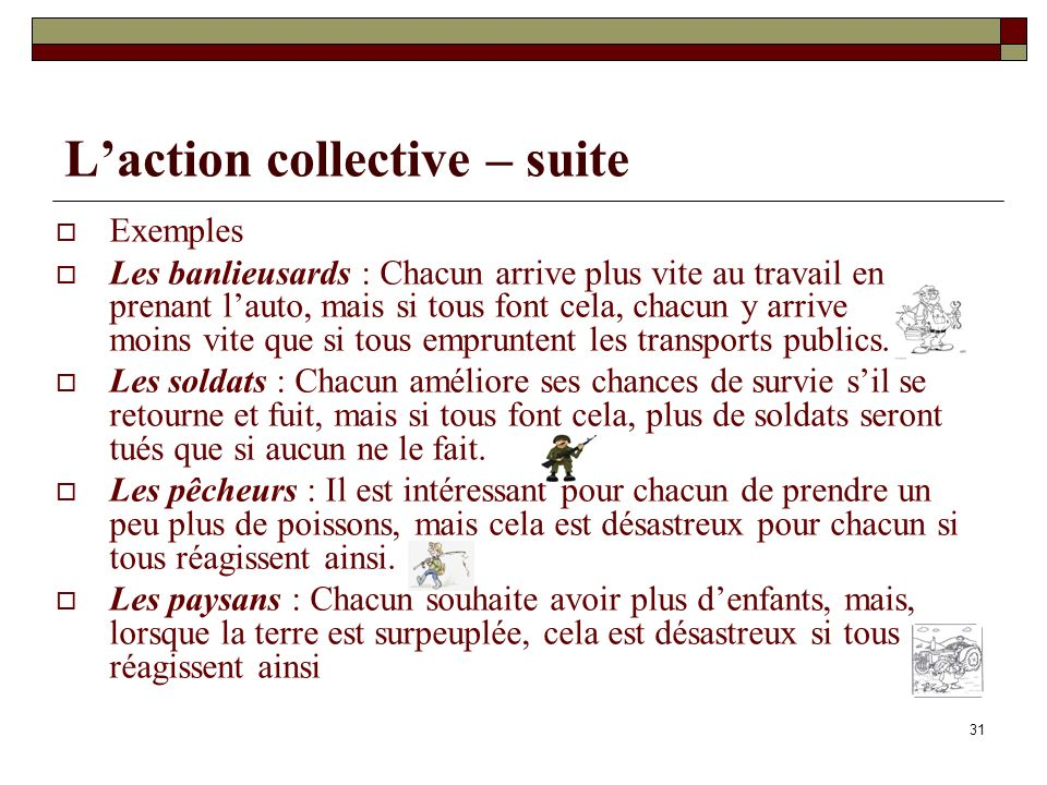 L'action collective – suite