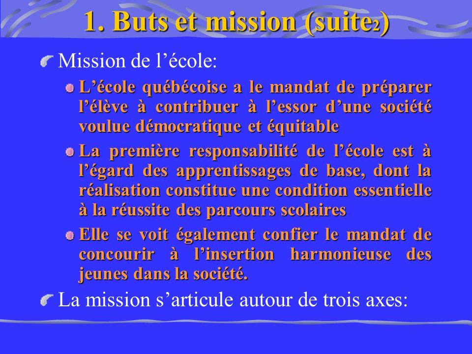 1. Buts et mission (suite2)