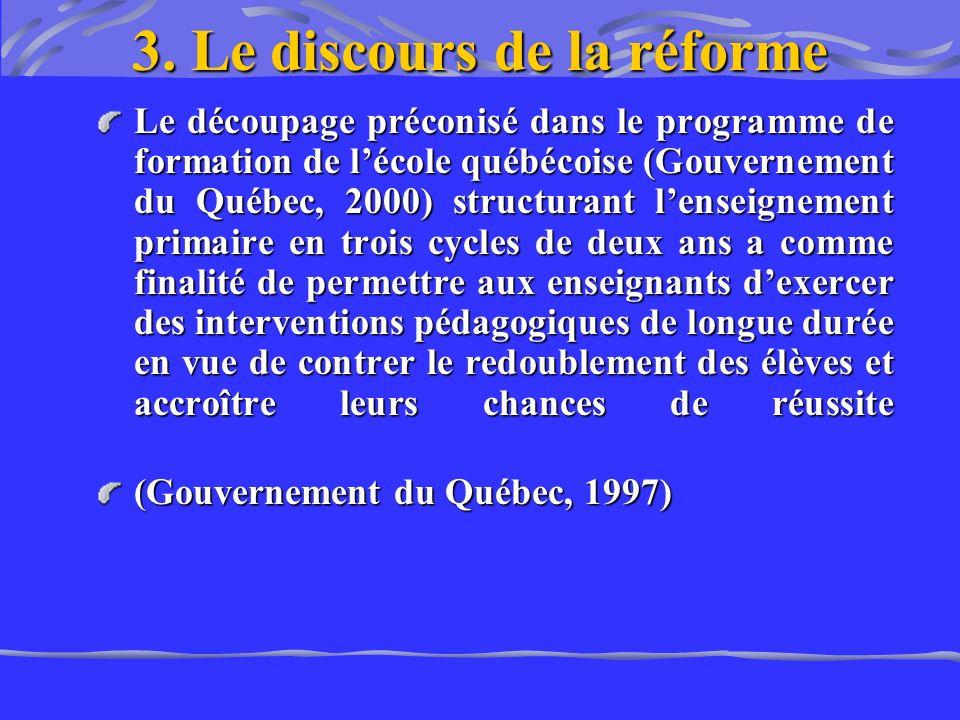 3. Le discours de la réforme