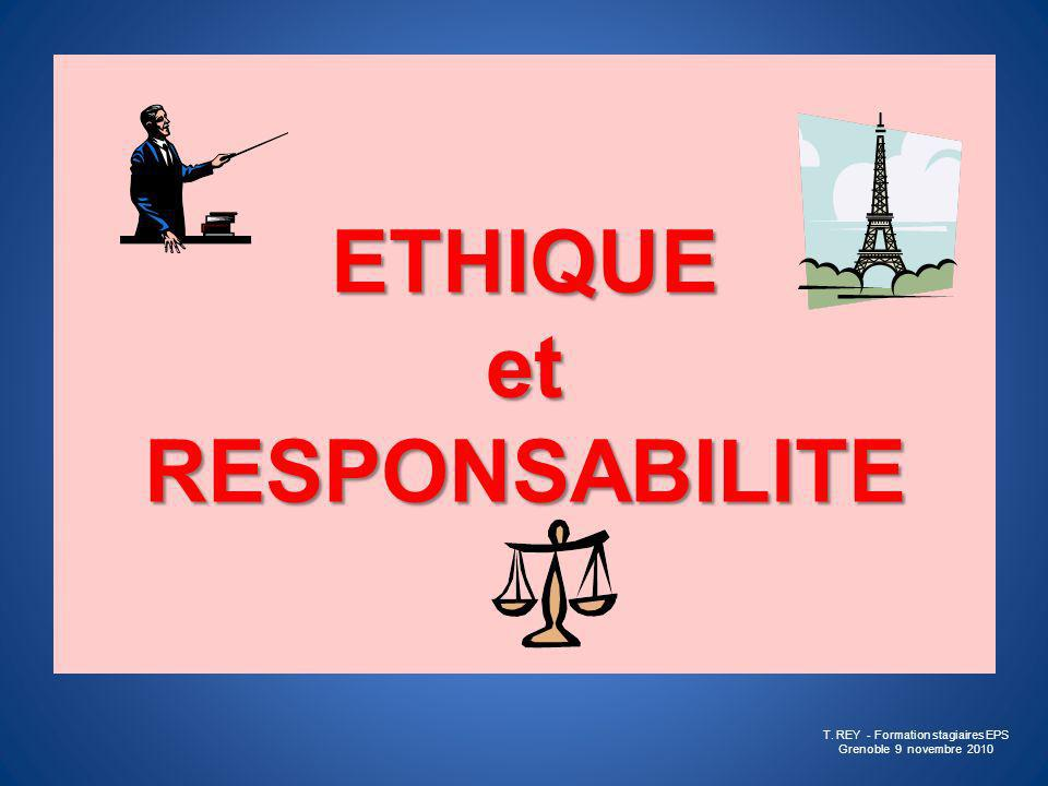 ETHIQUE et RESPONSABILITE