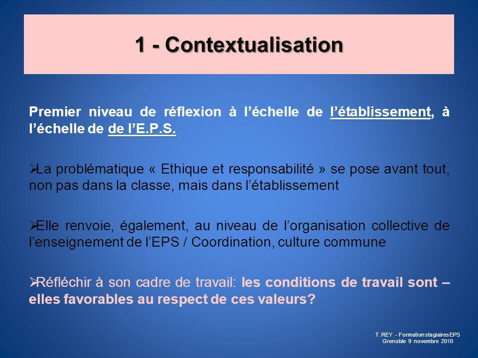 T. REY - Formation stagiaires EPS