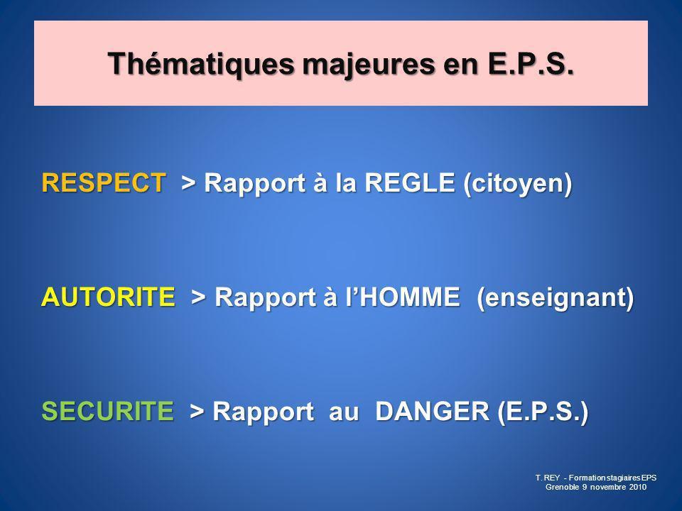 Thématiques majeures en E.P.S.