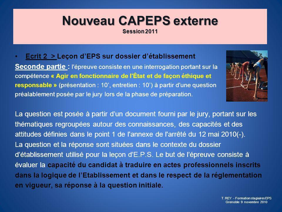 Nouveau CAPEPS externe Session 2011
