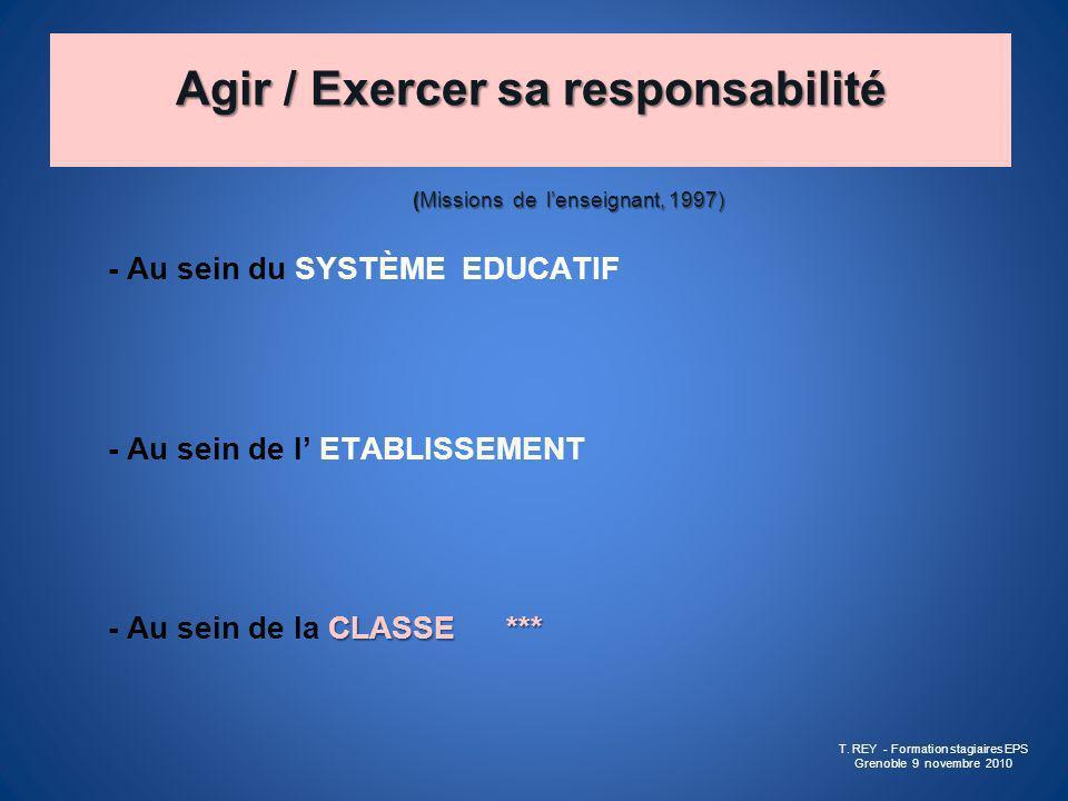 Agir / Exercer sa responsabilité