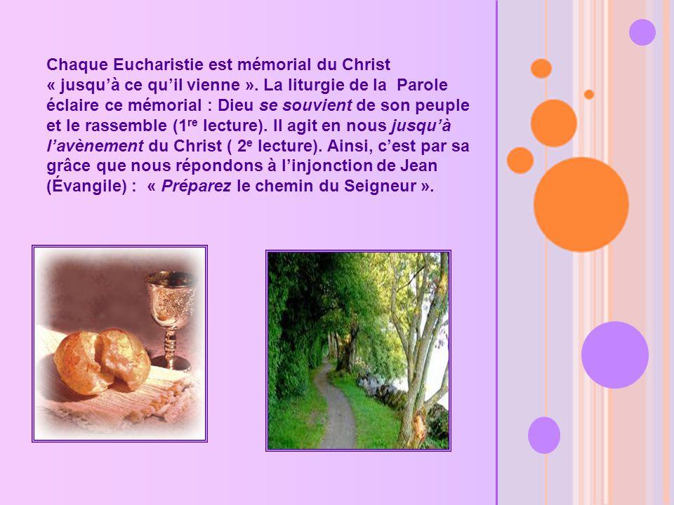 Chaque Eucharistie est mémorial du Christ