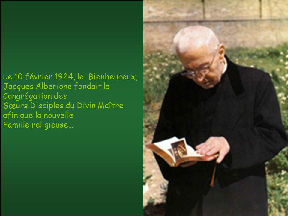 Le 10 février 1924, le Bienheureux, Jacques Alberione fondait la Congrégation des