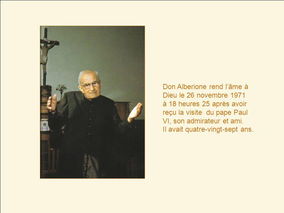 Don Alberione rend l'âme à Dieu le 26 novembre 1971
