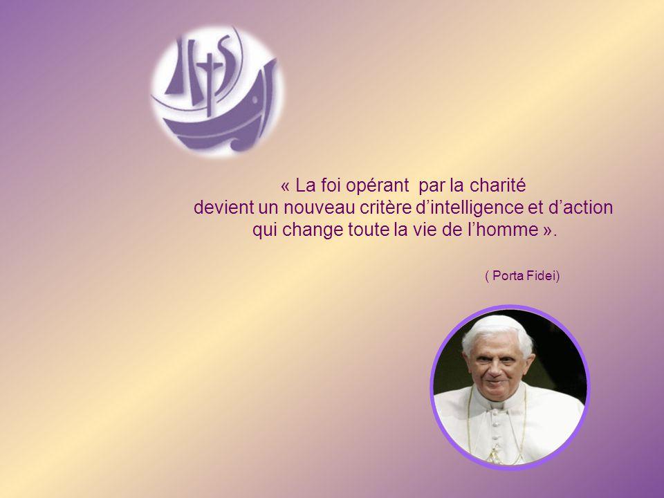 « La foi opérant par la charité