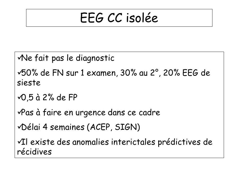 EEG CC isolée Ne fait pas le diagnostic