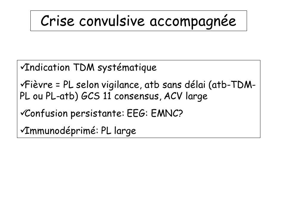 Crise convulsive accompagnée