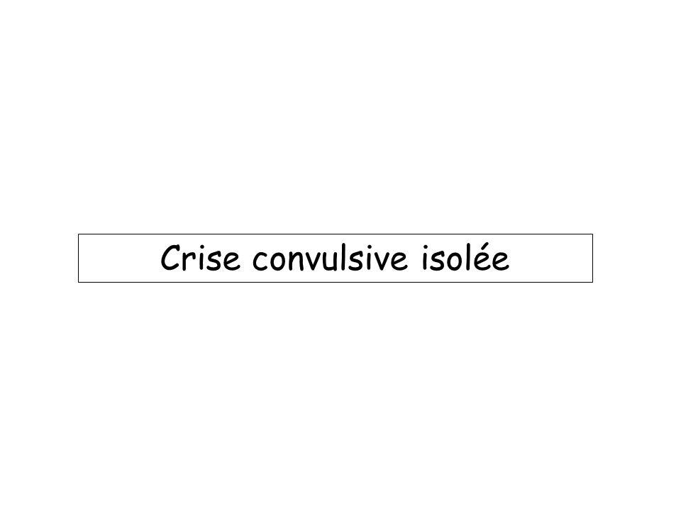 Crise convulsive isolée