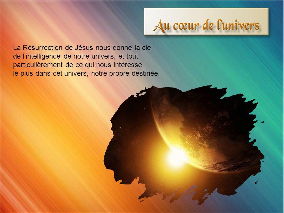 La Résurrection de Jésus nous donne la clé