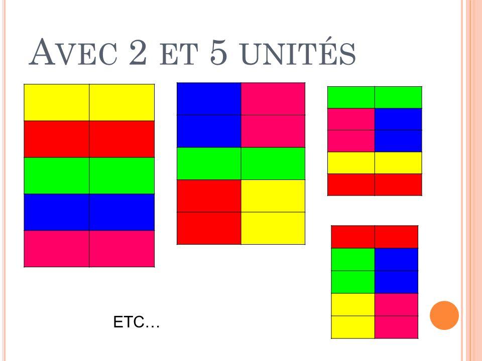 Avec 2 et 5 unités ETC…