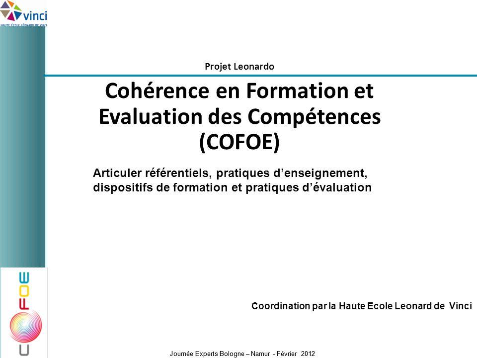 Cohérence en Formation et Evaluation des Compétences (COFOE)