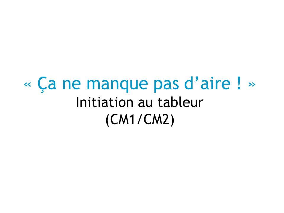 « Ça ne manque pas d'aire ! » Initiation au tableur (CM1/CM2)