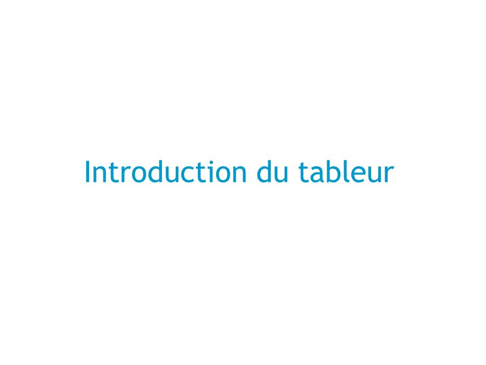 Introduction du tableur