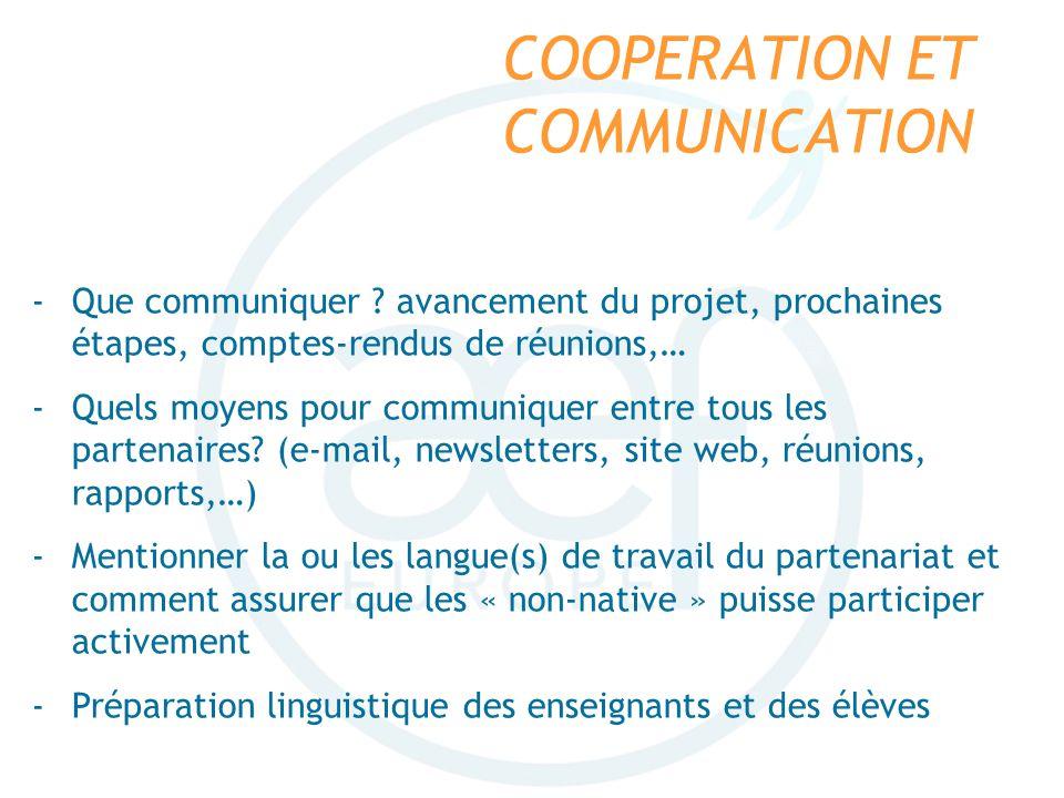 COOPERATION ET COMMUNICATION