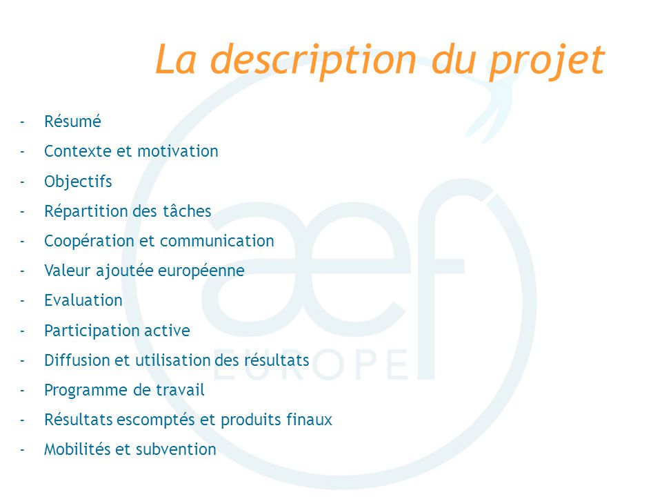 La description du projet