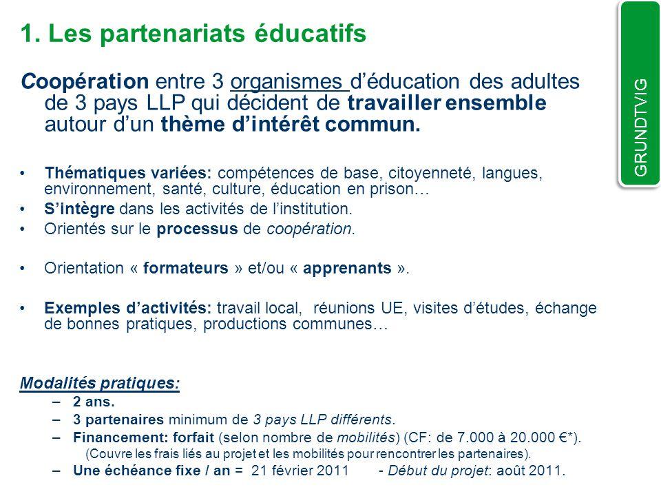 1. Les partenariats éducatifs