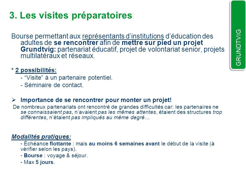3. Les visites préparatoires