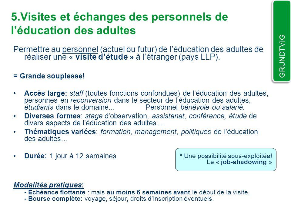 5.Visites et échanges des personnels de l'éducation des adultes