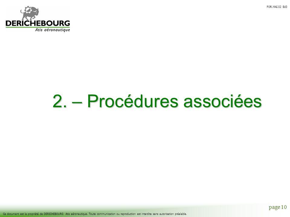 2. – Procédures associées