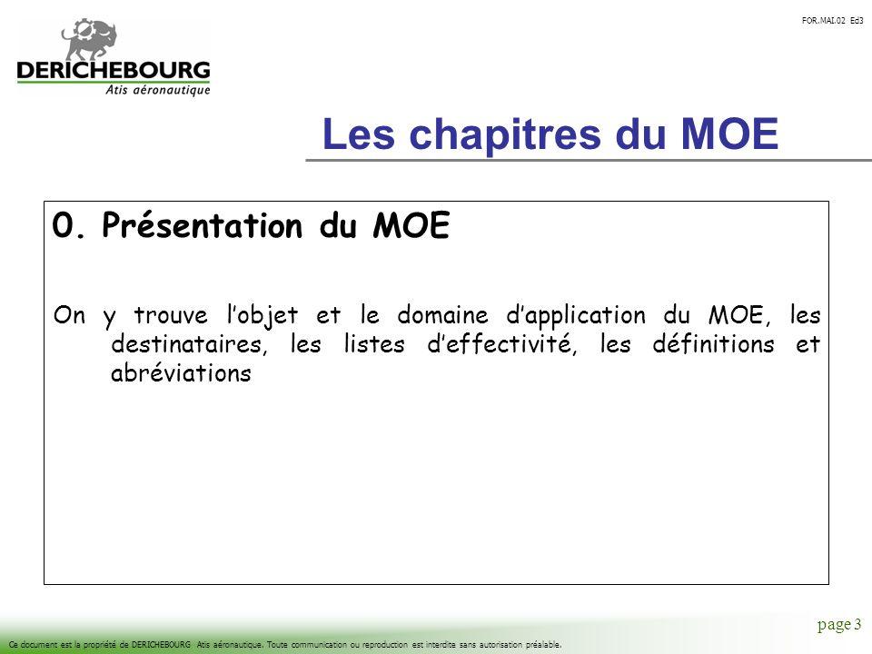 Les chapitres du MOE 0. Présentation du MOE