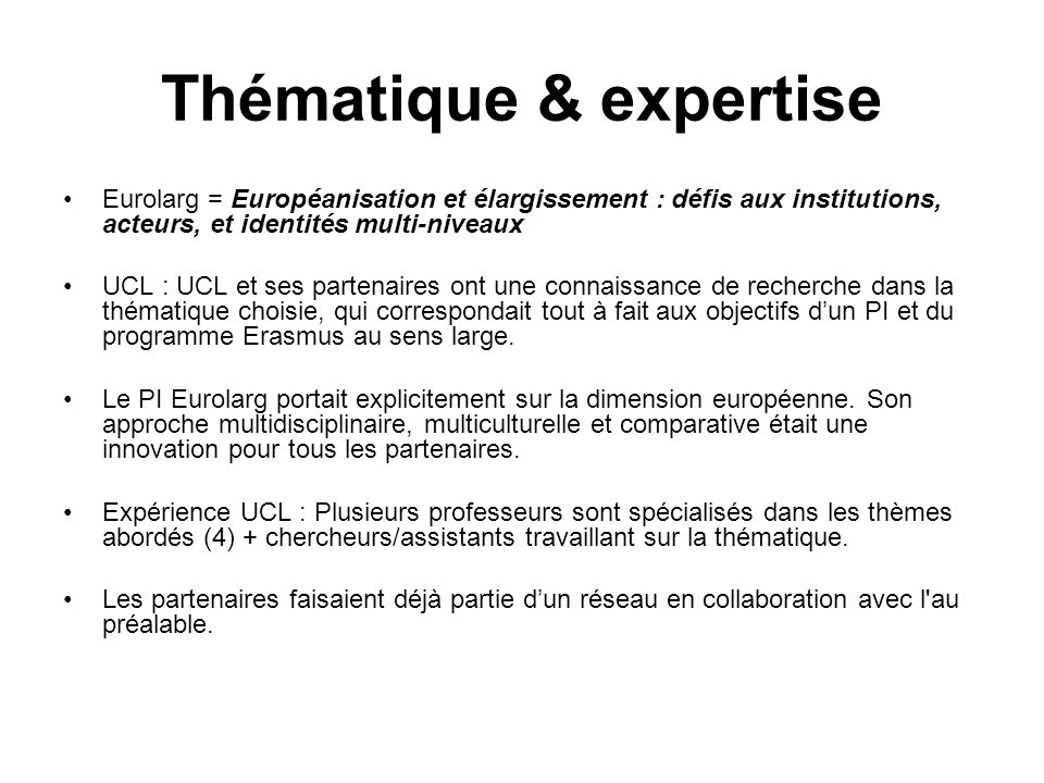 Thématique & expertise