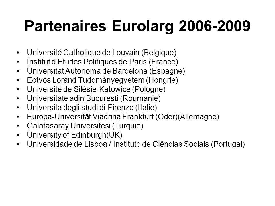 Partenaires Eurolarg 2006-2009