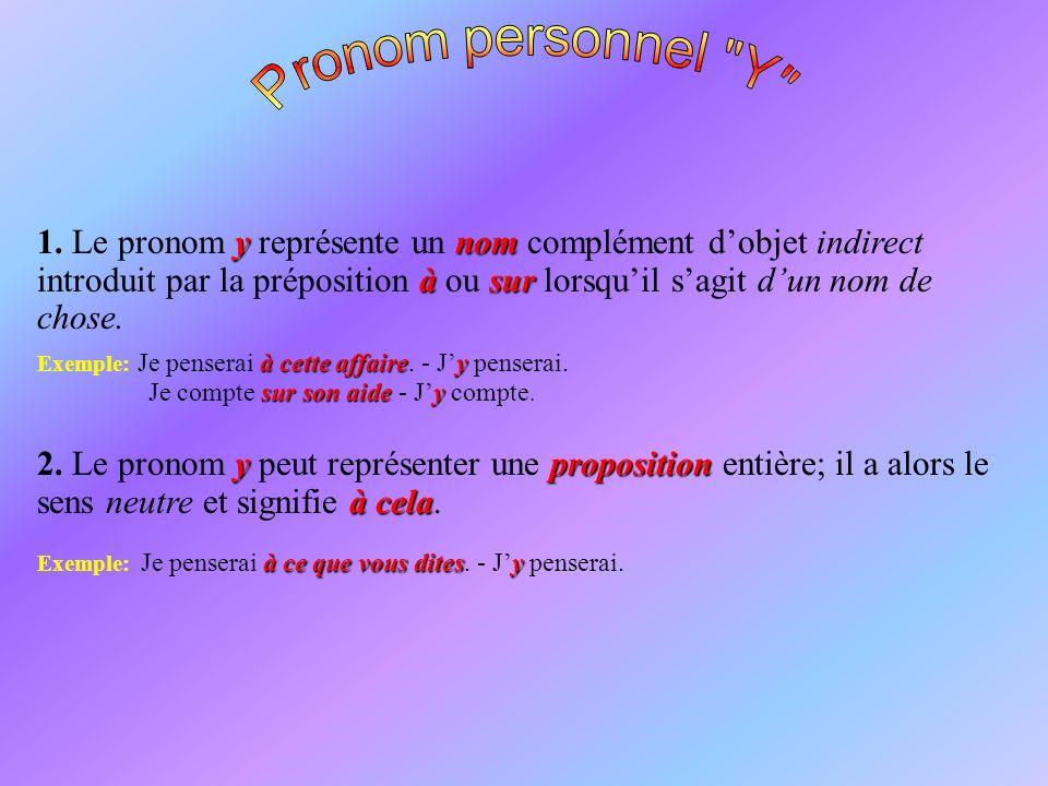 Pronom personnel Y