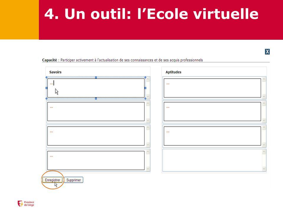 4. Un outil: l'Ecole virtuelle