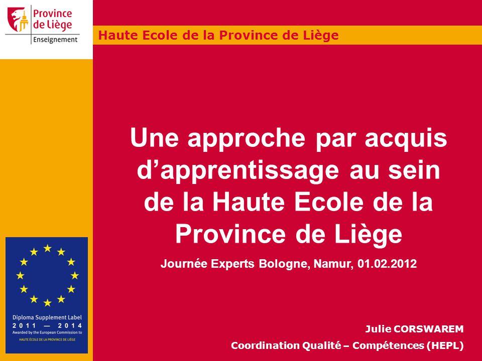 Journée Experts Bologne, Namur, 01.02.2012
