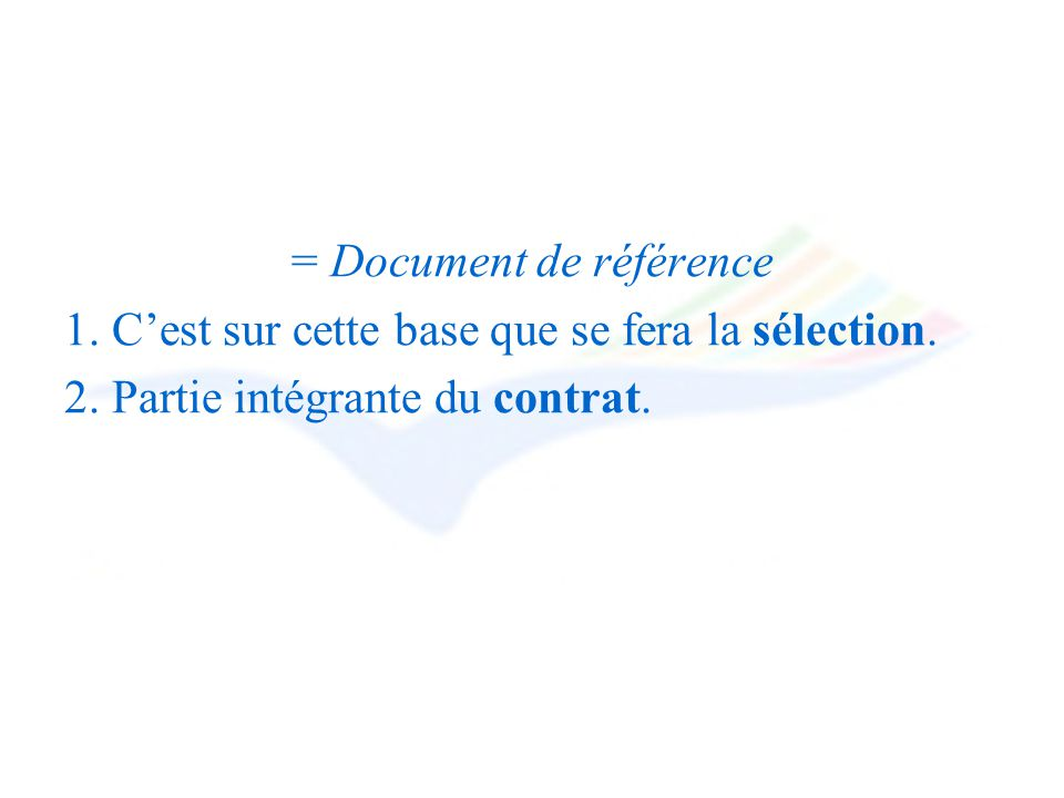 = Document de référence