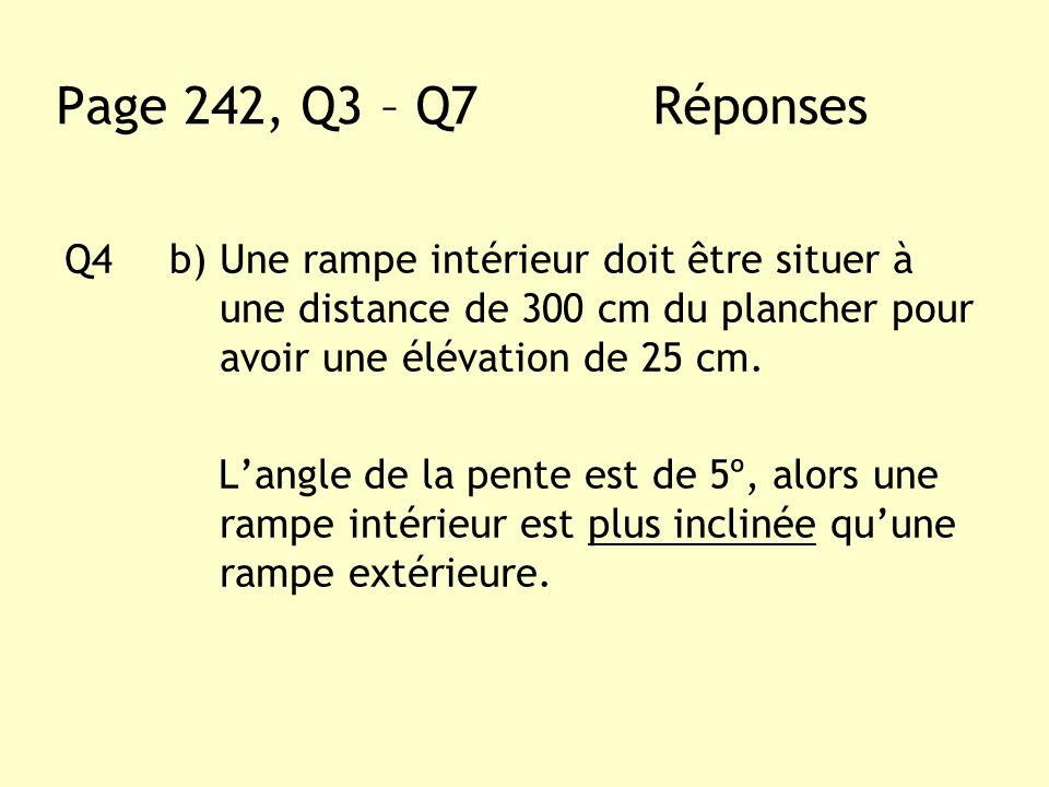 Page 242, Q3 – Q7 Réponses