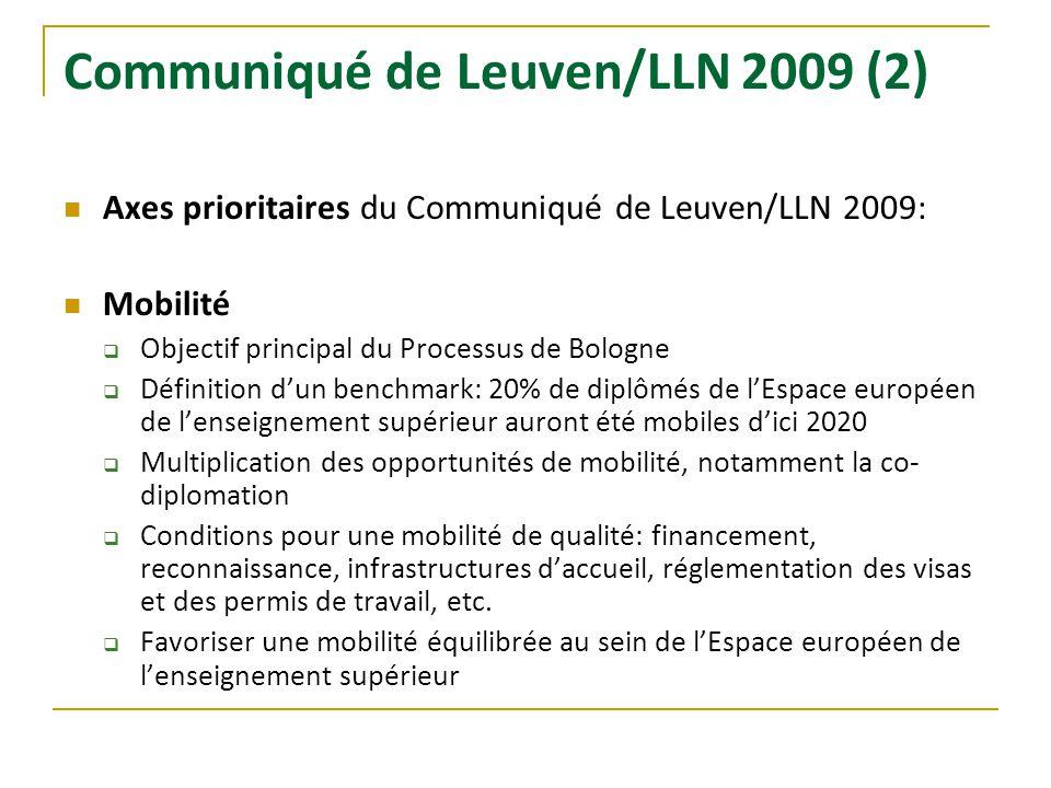 Communiqué de Leuven/LLN 2009 (2)