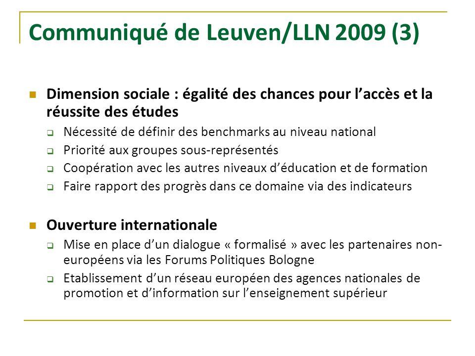 Communiqué de Leuven/LLN 2009 (3)