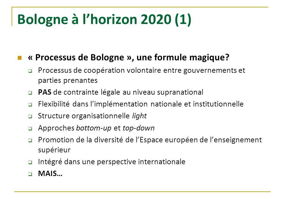 Bologne à l'horizon 2020 (1) « Processus de Bologne », une formule magique
