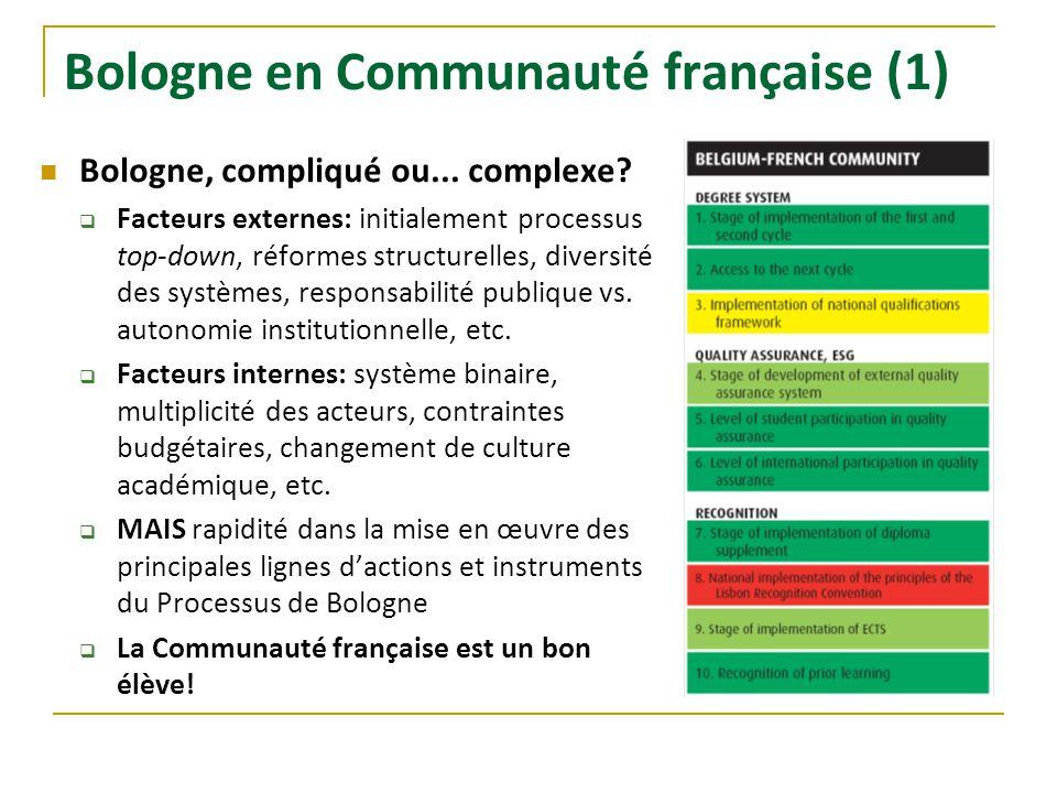 Bologne en Communauté française (1)