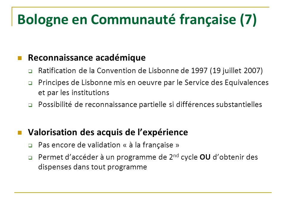 Bologne en Communauté française (7)
