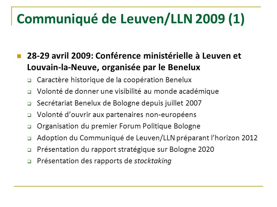 Communiqué de Leuven/LLN 2009 (1)