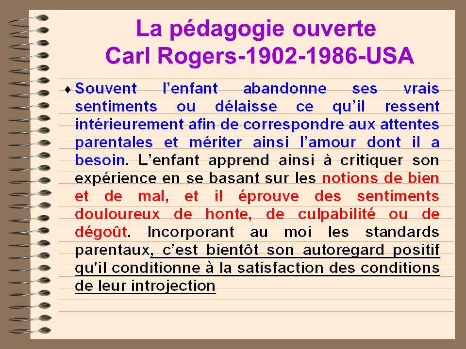 La pédagogie ouverte Carl Rogers-1902-1986-USA