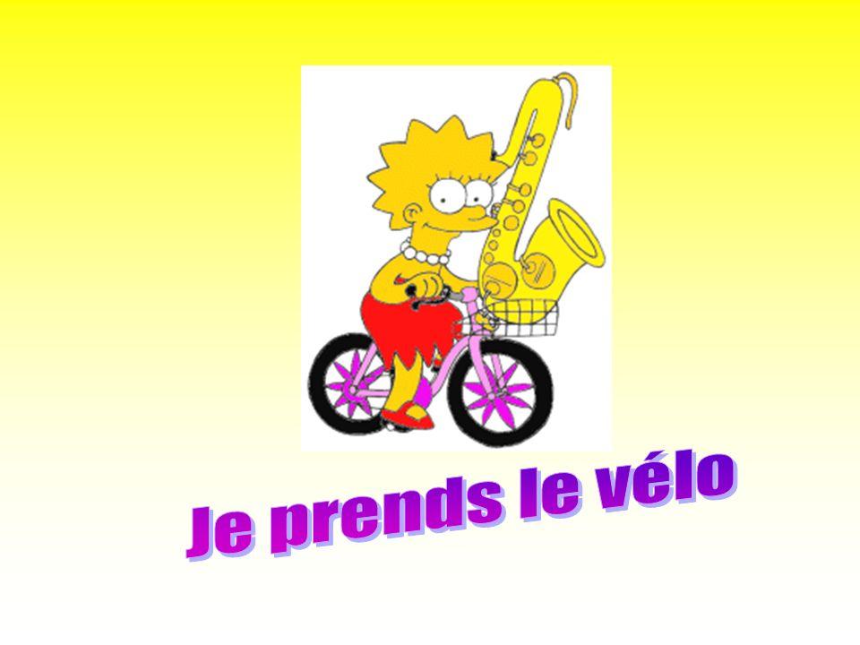 Je prends le vélo