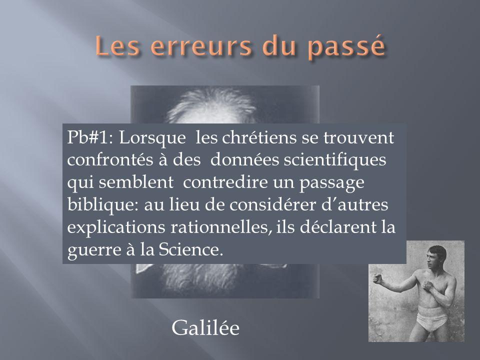 Les erreurs du passé Galilée