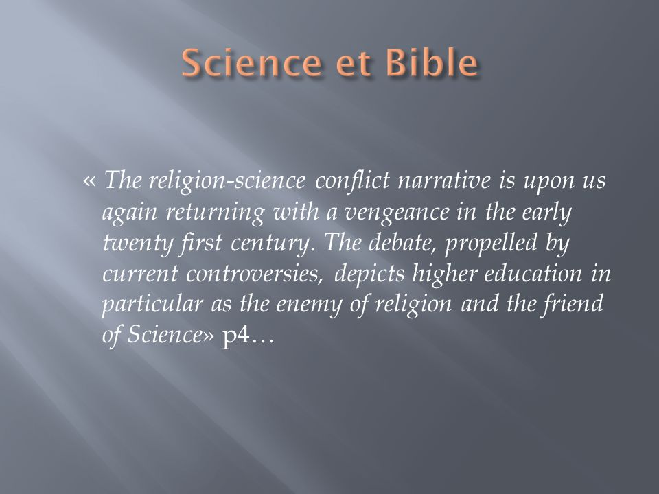 Science et Bible