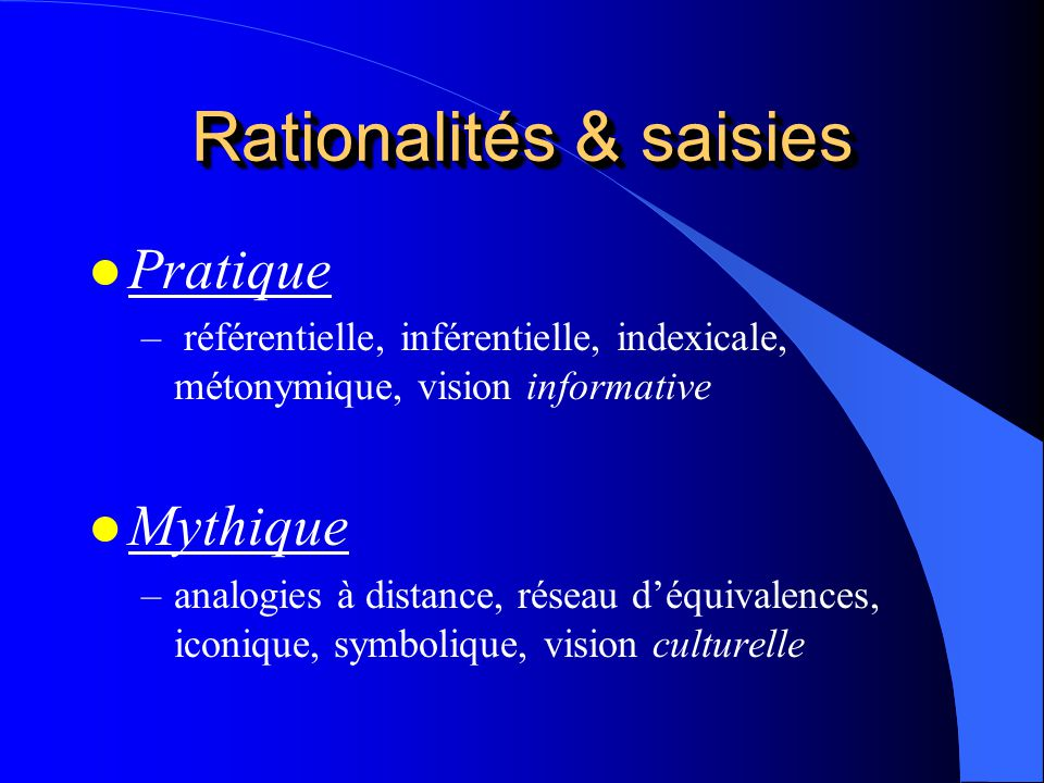 Rationalités & saisies