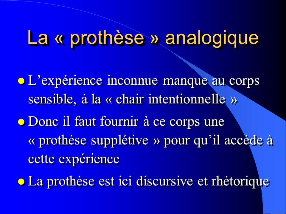 La « prothèse » analogique