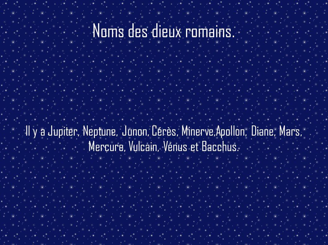 Noms des dieux romains.